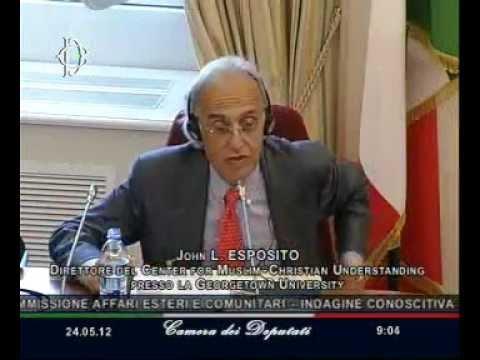 Roma - L'audizione di John L. Esposito (24.05.12)