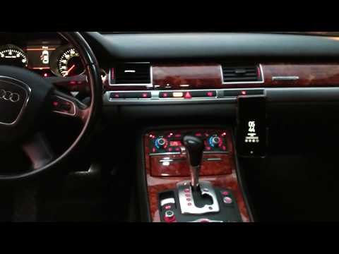 Audi A8 Life Hack Cell Phone Mount +bluetooth Audi (finally)