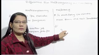 Difference between Multiprogramming and Multitasking Operating System in Hindi