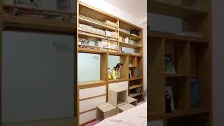 Home Design - climbing up bookcase