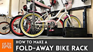 How to Make a Fold Away Bike Rack // Woodworking