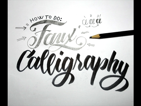 How To Do Faux Calligraphy - With Practice Sheets - YouTube