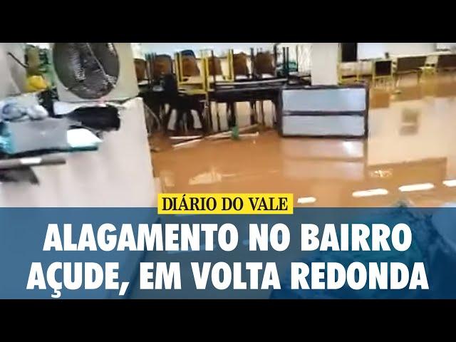 Alagamento no bairro Açude, em Volta Redonda 09/01/2020
