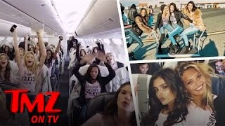 Victoria Secret Models On A Plane, These Are The Hottest Women In The World | TMZ TV