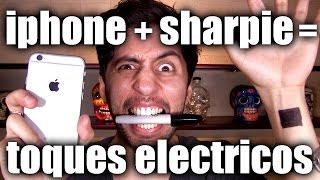 Como dar toques electricos con un iphone (sharpie shock challenge) - ChideeTv