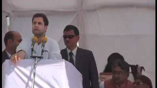 Rahul Gandhi addressing a public rally at Mainpuri (UP): 21 February, 2012