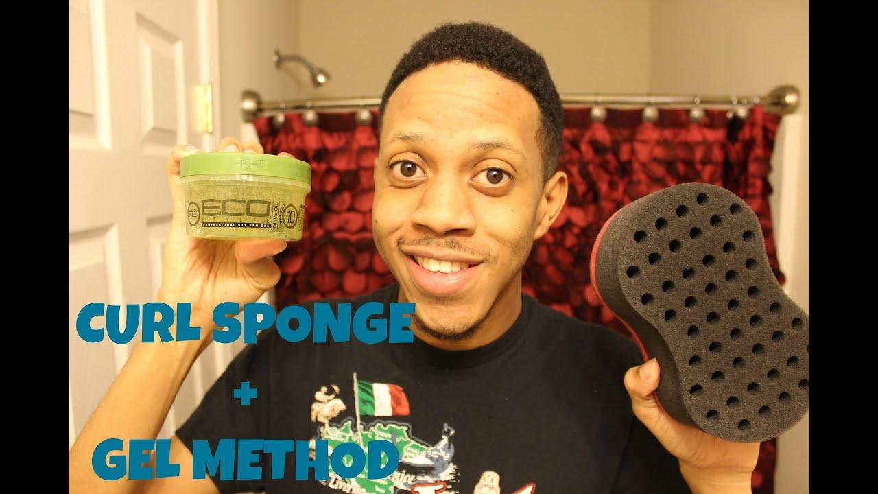 How To Get Curly Hair Gel Method Amp Curl Sponge Youtube