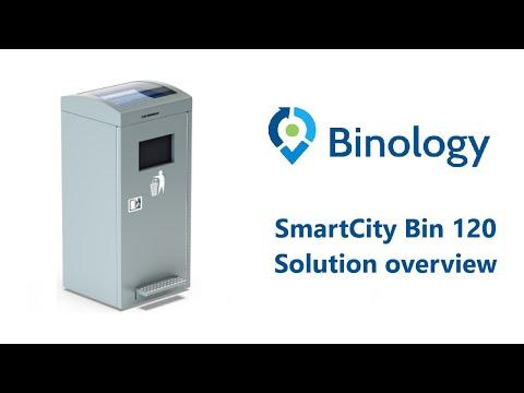 Binology Smart City Bin 120 | Waste managment WM | Smart city | Iot technology | www.binology.com
