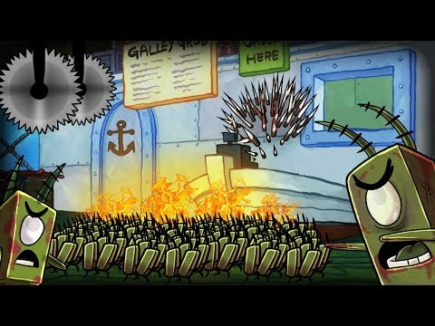 Minecraft   ZOMBIE PLANKTON ATTACKS BIKINI BOTTOM! (Spongebob's Secure Base)