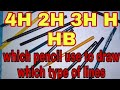 Which type pencil use to draw which type of line | PENCILS | ENGINEERING DRAWING | hindi |