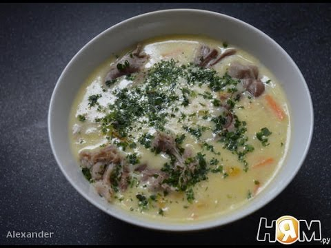 Рисовый суп из индюшиного горла  Немецкая кухня