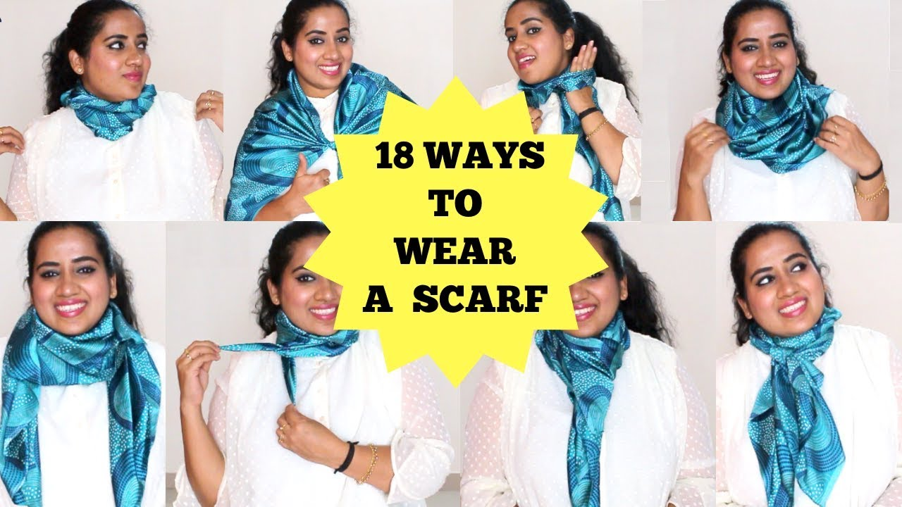 18 Ways To Wear 1 SCARF | Scarf Styles | How to style a scarf
