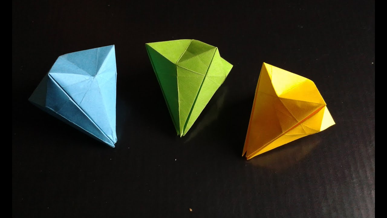 me gemstone template paper diamond origami