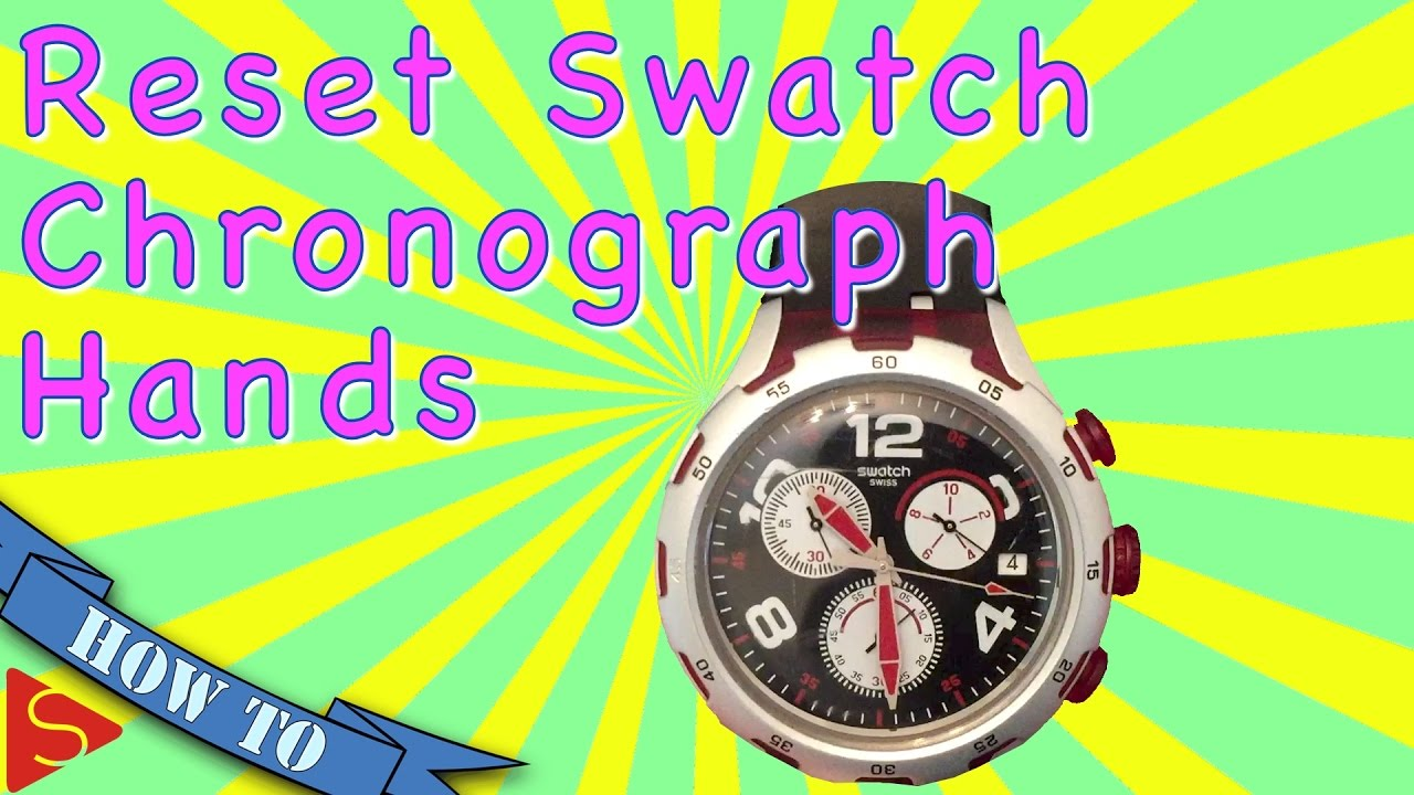 How To Reset Your Swatch Chronograph Hands - YouTube ec8b88671e1