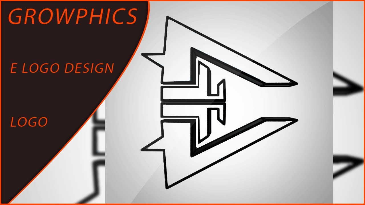 e logo design speedart youtube