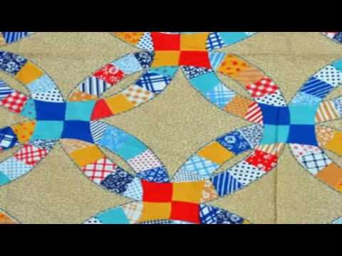 easy beginner quilt double wedding ring lap quilt pattern - YouTube