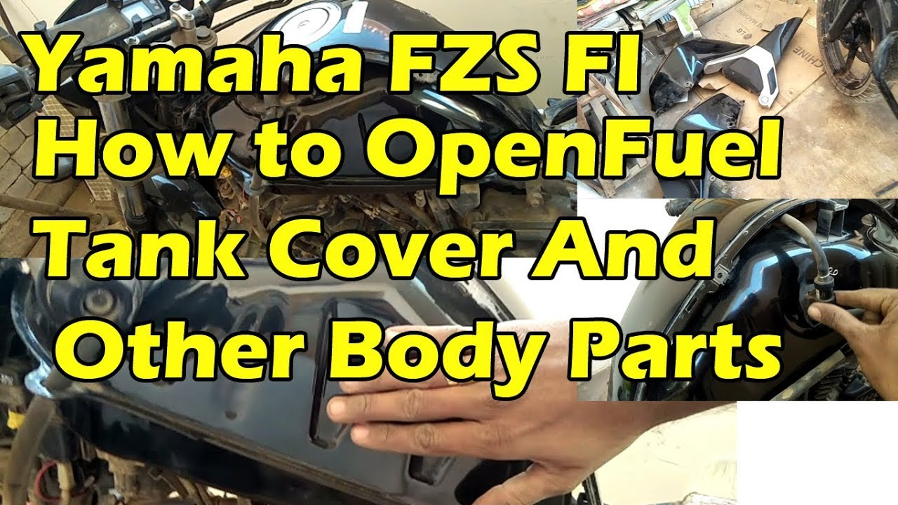 Fuel tank cover open yamaha fz fi