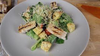 Салат Цезарь с курицей | Рецепт соуса для салата Цезарь