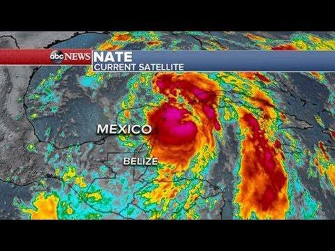 Live: HURRICANE NATE Tracking to SLAM US Gulf Coast, LATEST Path Updates 24/7 Landfall video