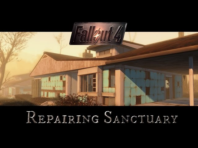 Fallout 4 Mods Repairing Sanctuary Houses Youtube
