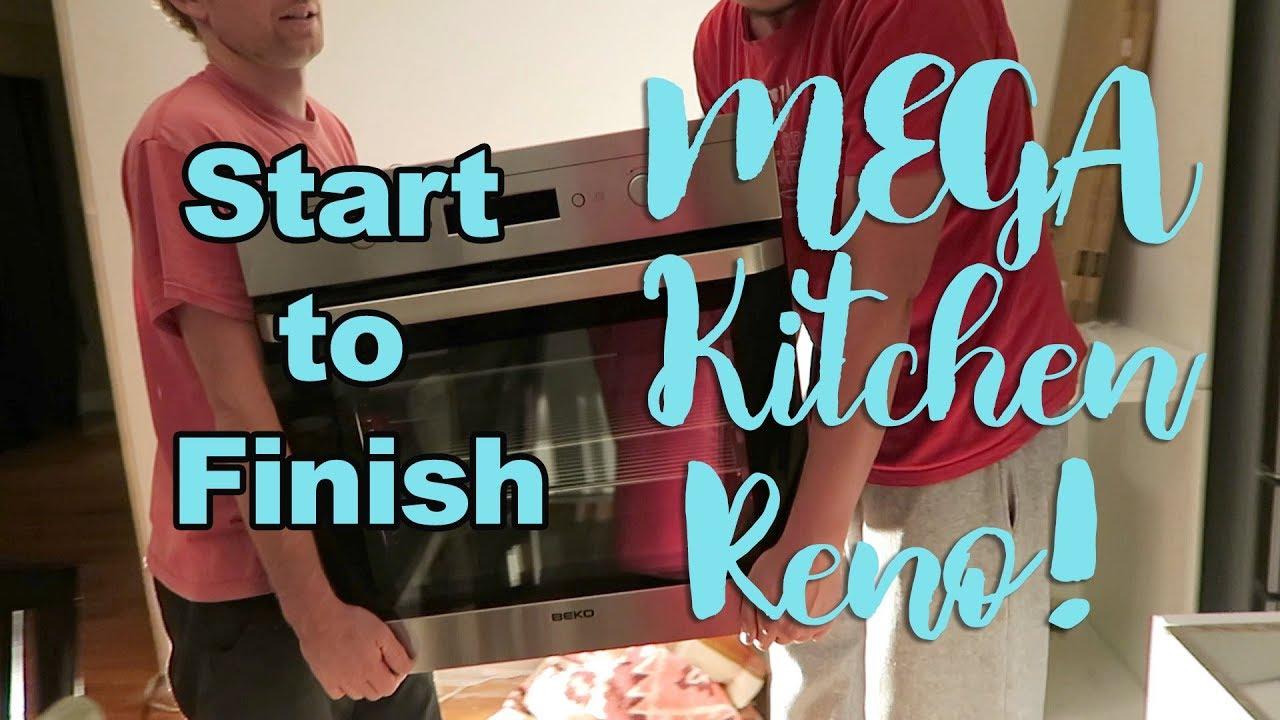 MEGA KITCHEN RENO! BEFORE & AFTER - YouTube