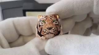 Кольцо Stenzhorn коллекция Wild Life голова тигра!