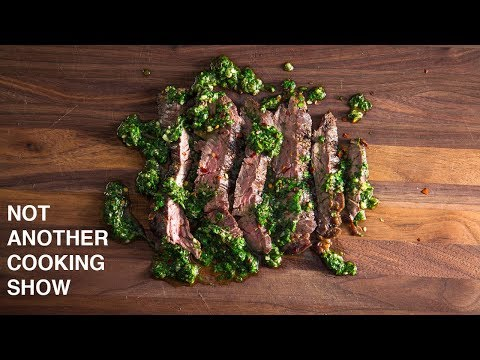 GRILLED SKIRT STEAK WITH CHIMICHURRI SAUCE: GRILLIN WHILE CHILLIN