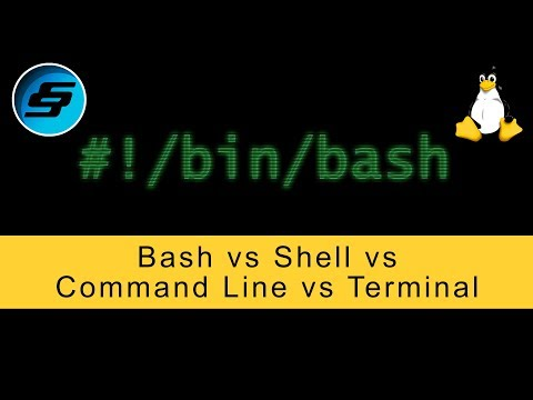 Bash Vs Shell Vs Command Line Vs Terminal - Bash Scripting
