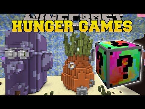 Minecraft: SPONGE BOB HUNGER GAMES - Lucky Block Mod - Modded Mini-Game