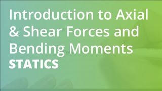 Introduction to Axial & Shear Forces and Bending Moments | Statics