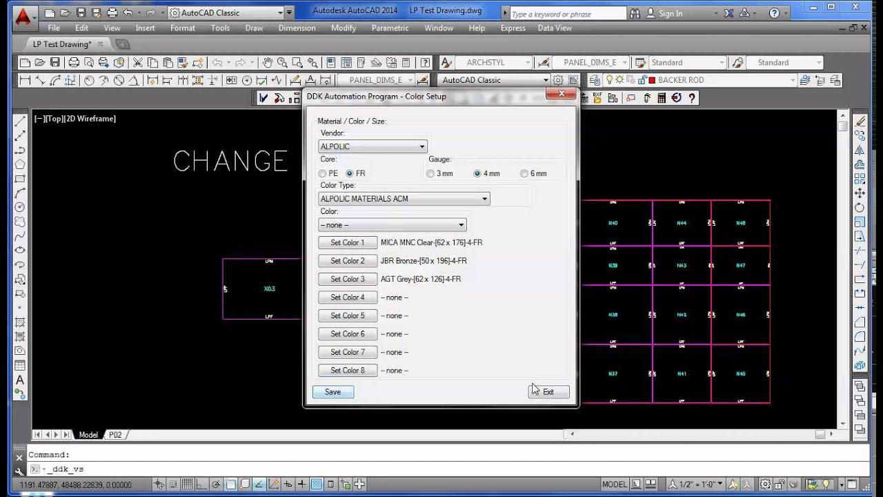 Change Elevation panel colors - ACM Composite Panel Builder Software