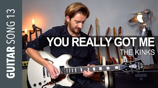 YOU REALLY GOT ME - The Kinks Guitar Lesson + SOLO and JAM TRACK!
