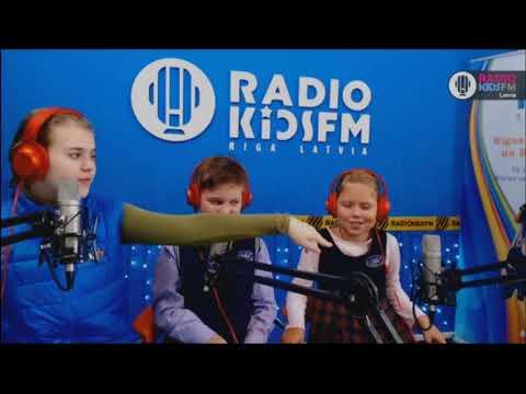 В студии RadioKidsFm Riga ученики школы  Anniņmuižas -3 класс - 2017 09 20