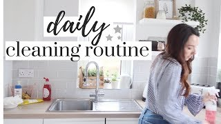 DAILY CLEANING ROUTINE | CLEAN WITH ME 2018 | CLEANING MOTIVATION |