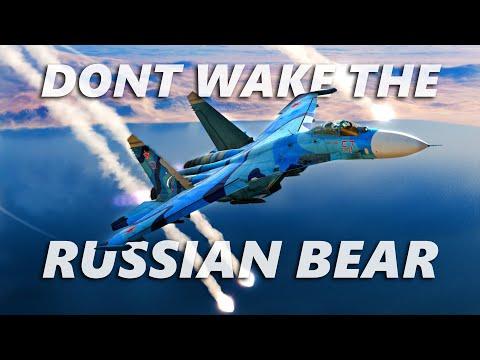 SU-27 Flanker vs MIG-29 Fulcrum Dogfight   DCS   Digital Combat Simulator   4K  