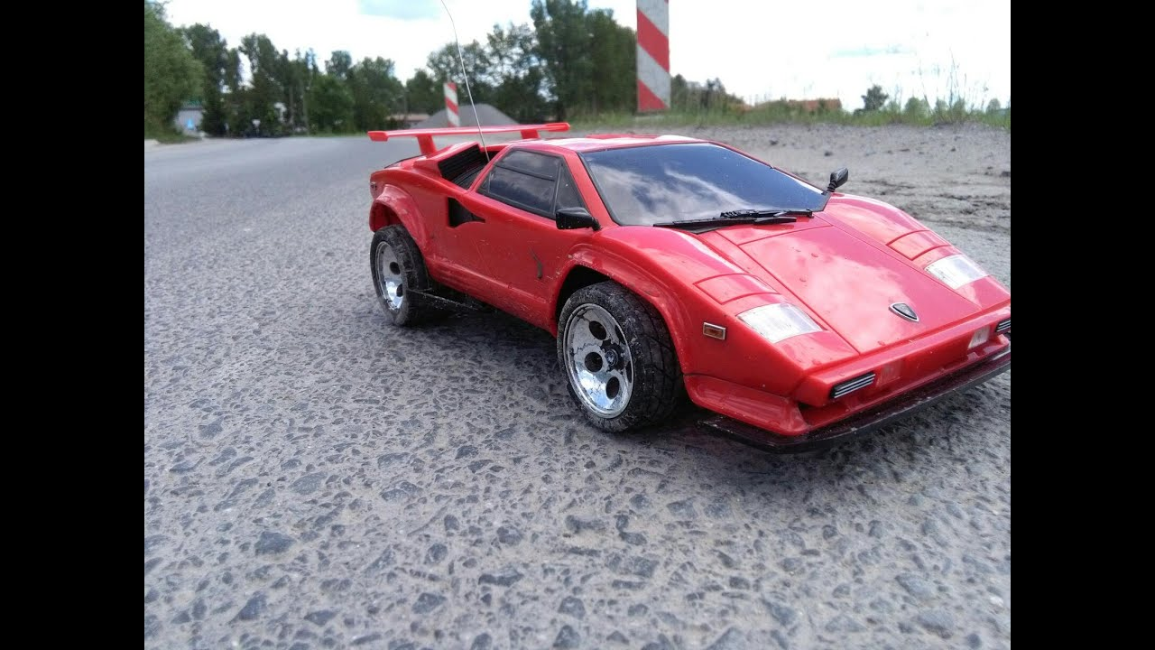 1991 RC Taiyo Lamborghini Countach   First Run On The Road   Fail   YouTube