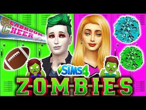 ADDISON REVEALS HER SECRET!?🧟Zombies vs Cheerleaders Dance Battle!🧟 Disney ZOMBIES Sims 4 (Ep 3)