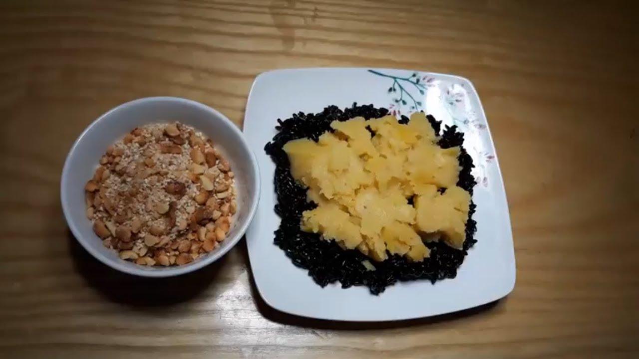 Cách nấu XÔI NẾP CẨM bằng nồi cơm điện