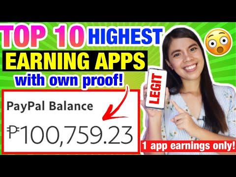 TOP 10 LEGIT & HIGHEST EARNING APPS: I Earned P100,759 in 1 APP FREE! OWN PROOF GCASH & PAYPAL MONEY