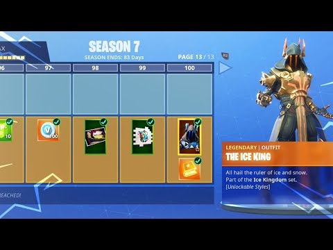New Fortnite SEASON 7 LEVEL 100 *MAX* BATTLE PASS Upgrades..