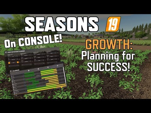SEASONS 19 On CONSOLE (GROWTH: Planning For Success) Farming Simulator 19 PS4.