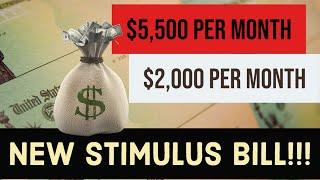 $2,000 A MONTH STIMULUS CHECK! | NEW STIMULUS BILL