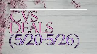 CVS BREAKDOWN (5/20-5/26) l MONEYMAKER MAKEUP & CHEAP DETERGENT