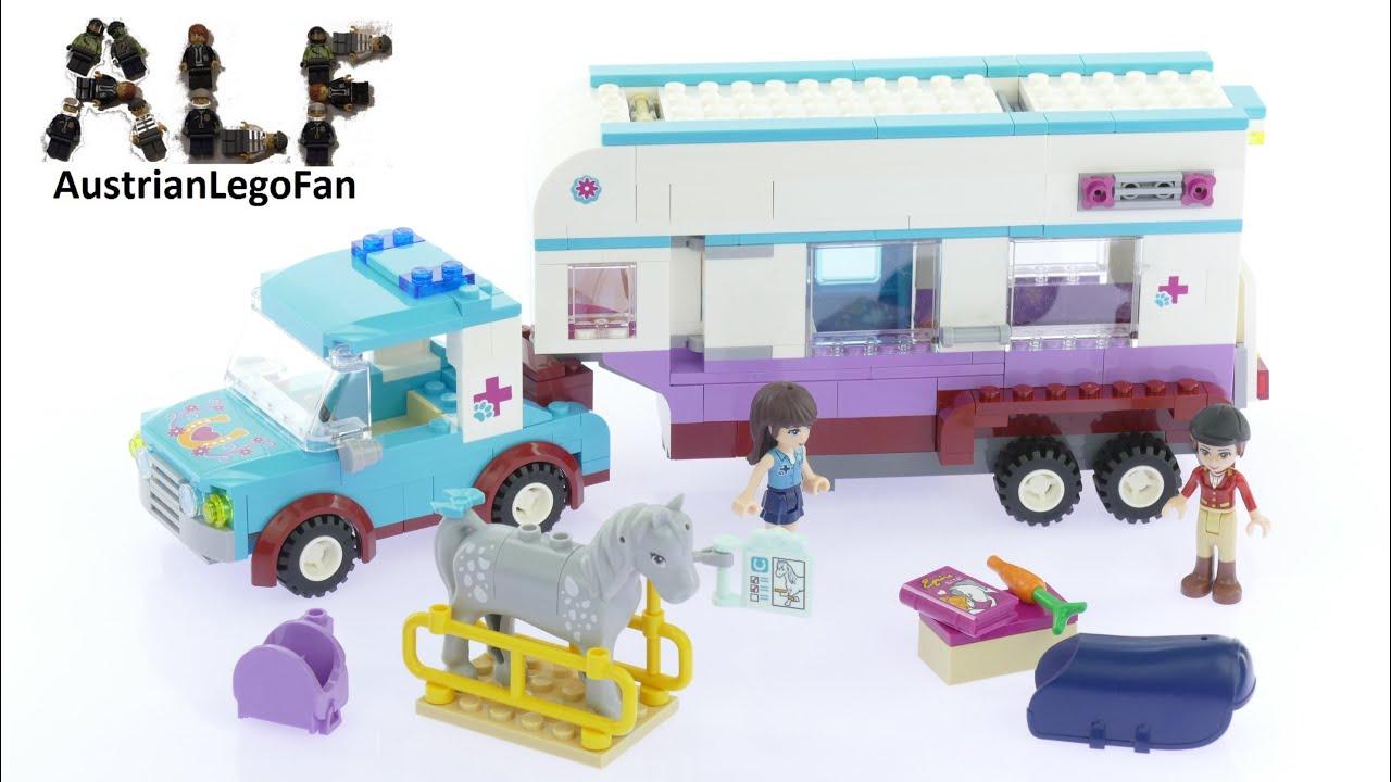 Lego Friends 41125 Horse Vet Trailer Lego Speed Build Review Youtube