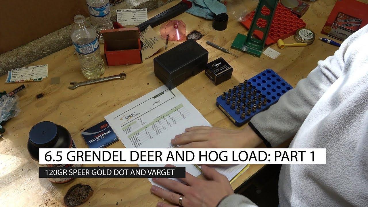 6 5 Grendel Hog and Deer Load, Part 1: 120gr Speer Gold Dot and Varget