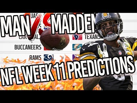 Predicting Every NFL Week 11 Winner...MADDEN 18 IS BLOWING IT! | Man v Madden 2017