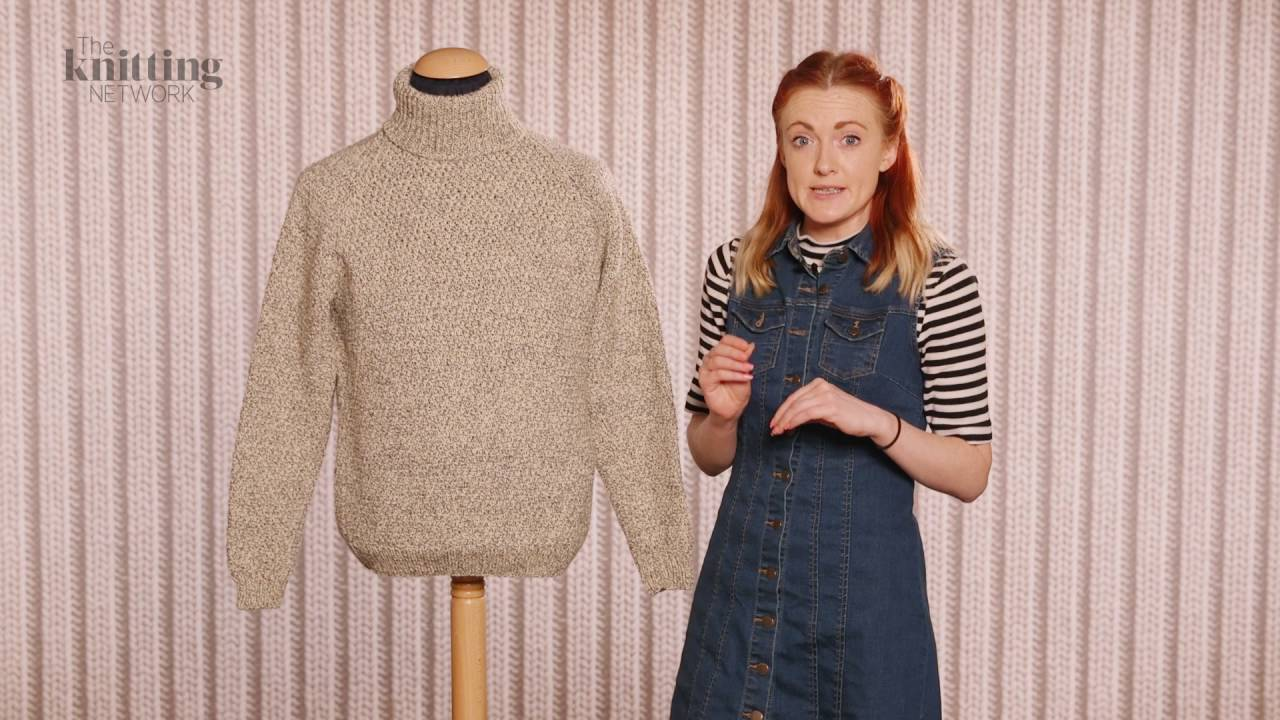 Roll Neck Jumper Vintage Knitting Pattern (The Knitting Network ...