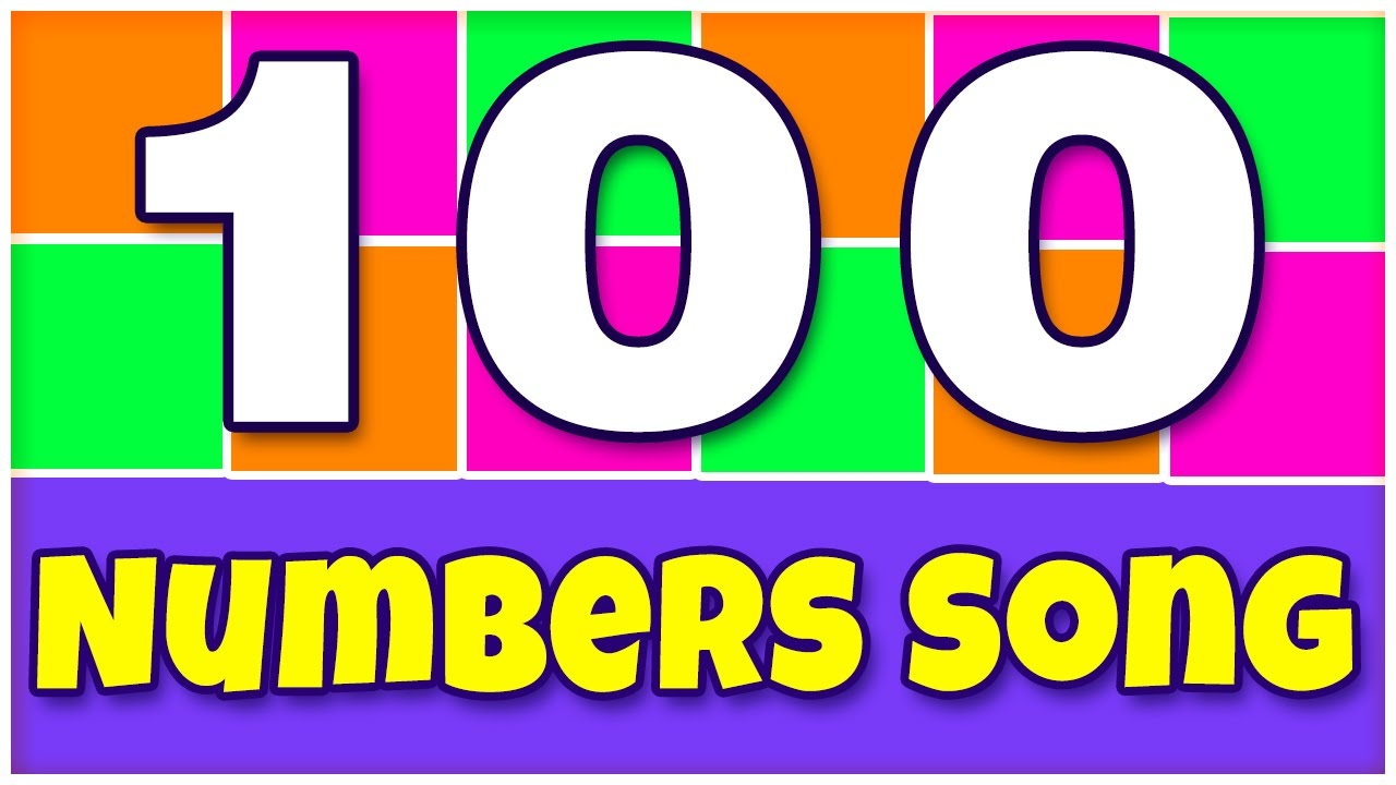 Worksheets Pictures Of Numbers 1-100 number song 1 100 numbers rhymes for children learn to count its youtube uninterrupted