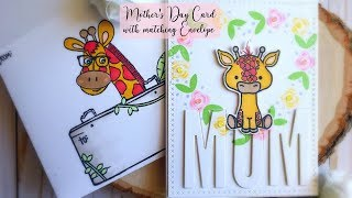 Mother's Day Card with Matching Envelope | Kat Scrappiness