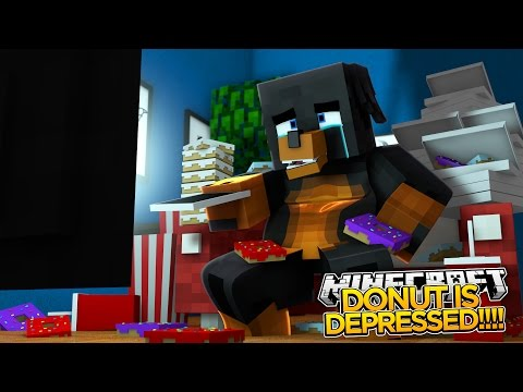 Minecraft - Donut the Dog Adventures -DONUT GETS FAT AND DEPRESSED!!!!